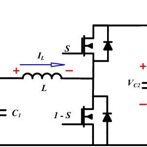 The bidirectional Buck-Boost converter circuit diagram