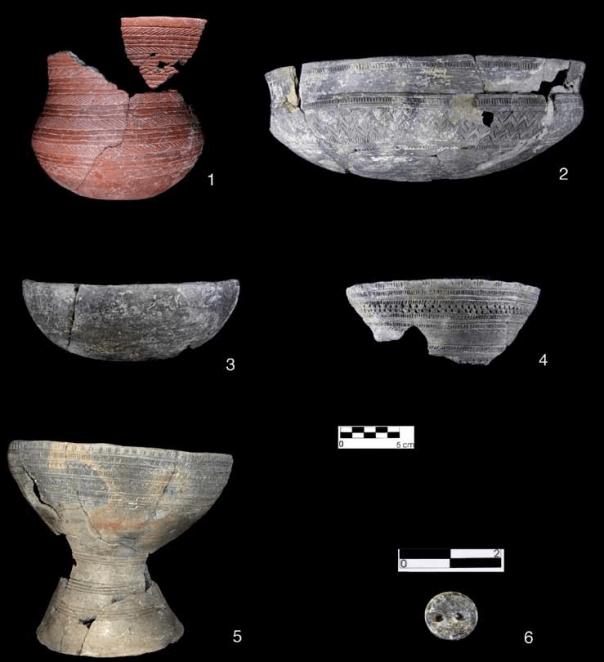 Ajuares campaniformes de la tumba nº 9 de Humanejos (Parla).