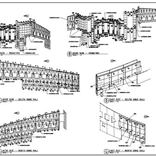 A typical precast girder shop drawing. Note the detailed