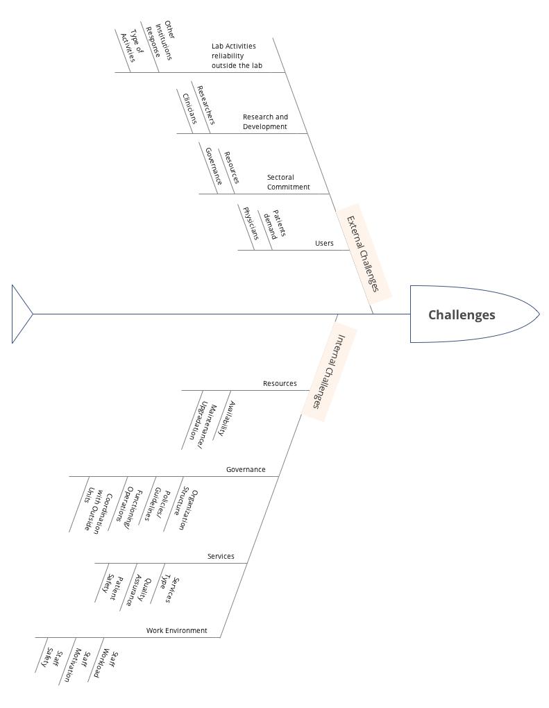 hight resolution of lab challenges taxonomy fish bone diagram