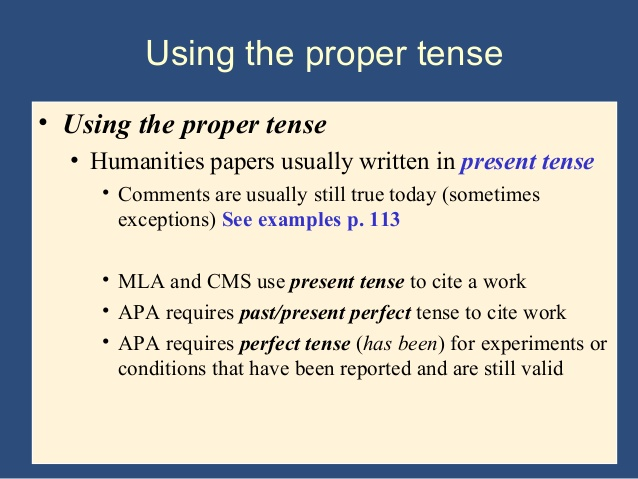 Are There Any Rules For Using Tenses In Scientific Papers?