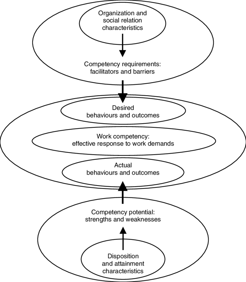 medium resolution of 3 the central role of work competency in linking person and environment characteristics to effectiveness