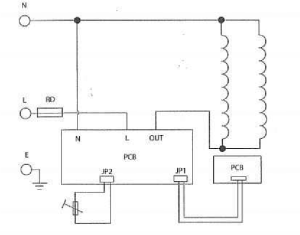 Basic circuit diagram of an electric rice cooker