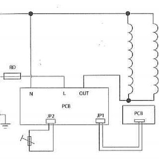 Basic circuit diagram of an electric rice cooker