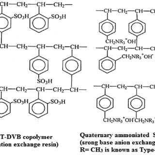 Micro structure of strong acid cation (SAC) and strong