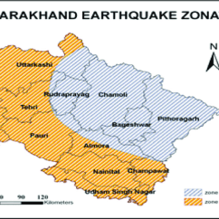 Earthquake Diagram With Labels Electrical Switch Loop Wiring Uttarakhand Zone Source National Disaster Management Authority