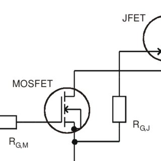 Cascode switch formed by a normally-off MOSFET and a