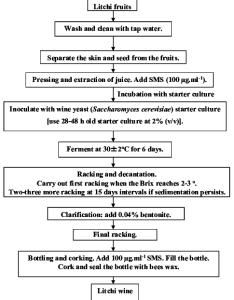 flow chart for making litchi wine also download scientific diagram rh researchgate
