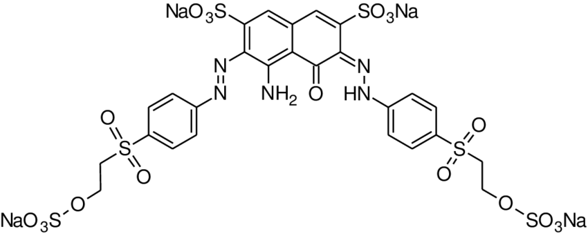 Chemical structure of the dye