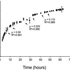 Specific growth rate (μ) of P. pastoris KM71/cStp as a