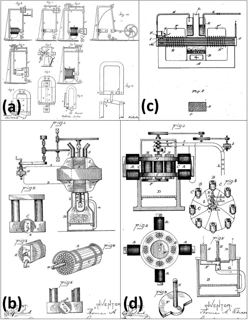 tesla motor design diagram pics