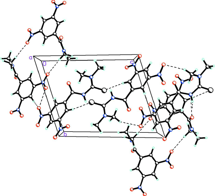 Part of the packing diagram of the title compound, showing