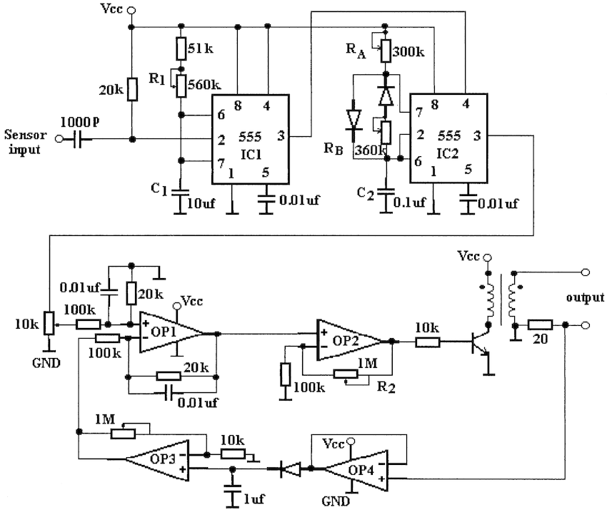 tens unit circuit diagram and design