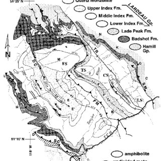 Simplified geologic map of southeastern British Columbia