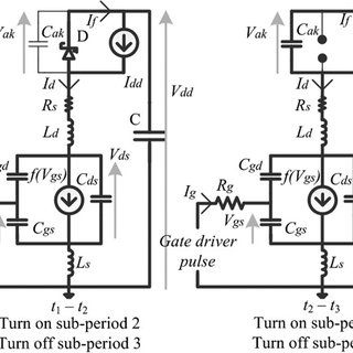 (a) Equivalent circuit of the DPT during false turn on of