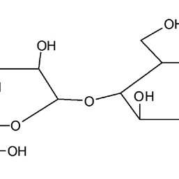 The structural formula of microcrystalline cellulose ...