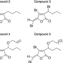 Chemical structures of the furanone compounds used in the