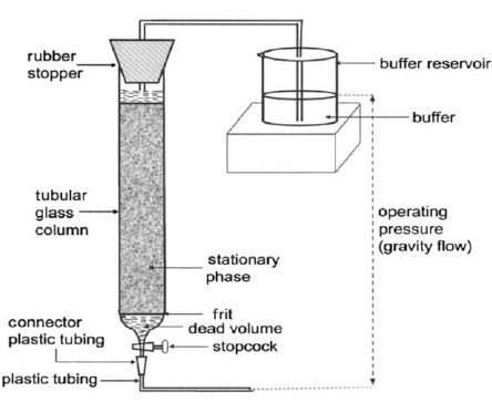 Components of column chromatography A mobile phase and