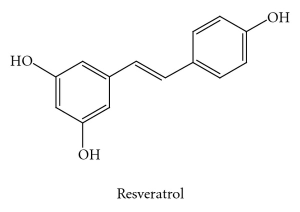 Chemical structure of resveratrol. The 4′-OH in