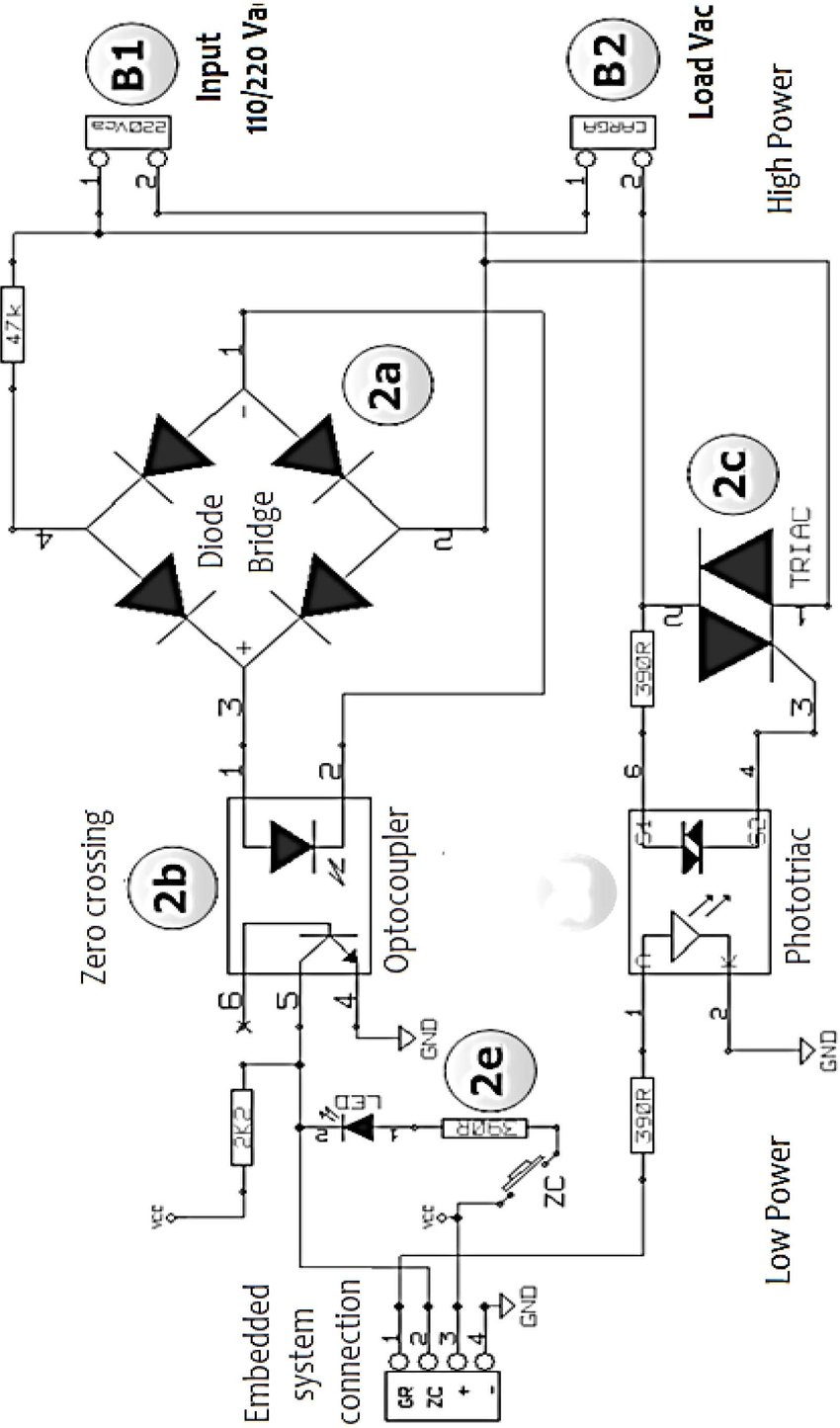 hight resolution of schematic of the developed ac voltage control circuit the zero crossing detection 9 of the grid sinusoidal voltage is performed using a photo coupler