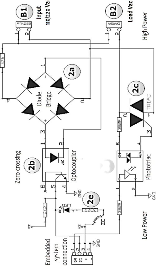 small resolution of schematic of the developed ac voltage control circuit the zero crossing detection 9 of the grid sinusoidal voltage is performed using a photo coupler