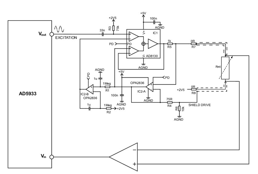 Simplified schematic of precision wide-band constant