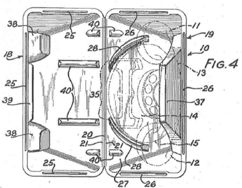 telephone handset wiring diagram clipsal water heater switch molded pulp packaging for patented in 1940 by s price