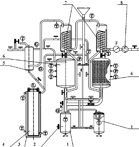 Scheme of the adsorption system with split heat pipe. 1