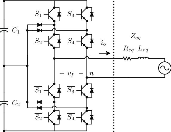 Circuit diagram of the single-phase full-bridge NPC