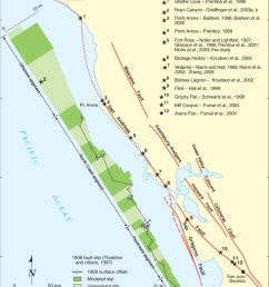 regional map of major faults in northwestern california showing san andreas fault segments from wgcep [ 850 x 1006 Pixel ]