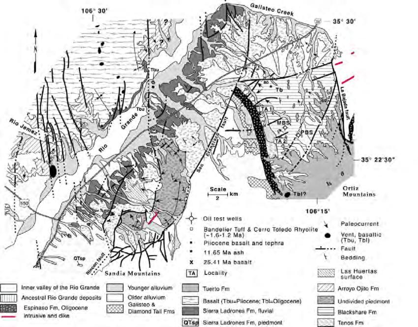 Simplified geologic map of the southeastern Santo Domingo