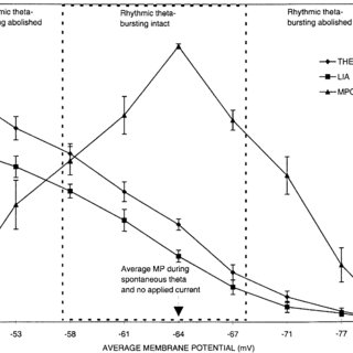 Graph summarizing the effects of hyperpolarizing and