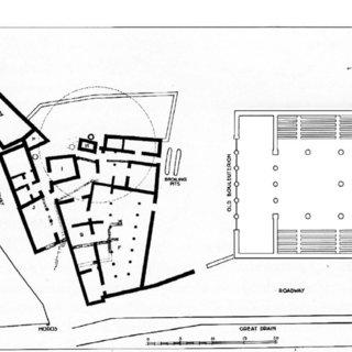 New Bouleuterion at Athens, 2nd(?) c. BCE. (a) Eastward