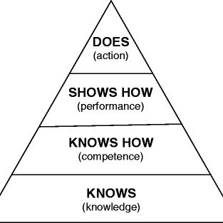Miller's pyramid of assessment of clinical skills