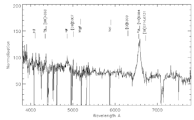 A comparison of the H α profile of the two AAOmega 2dF