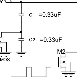 Schematic of the FSK Class-E converter circuit. L 1 = 51uH