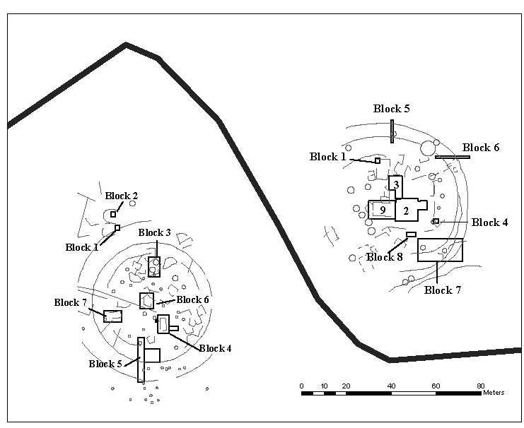 Map of Körösladány-Bikeri and Vésztı-Bikeri showing