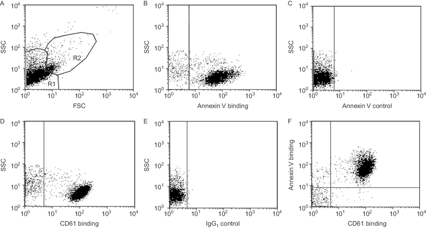 Staining of PMP and their detection by flow cytometry. MP