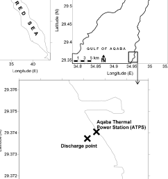 map of the study site in front of aqaba thermal power station atps in [ 818 x 1107 Pixel ]