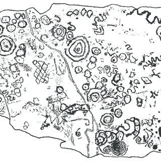 4: Hidden art. Newgrange Site 1, K18 (after C. O'Kelly