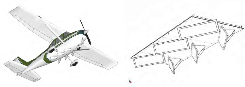 Figure C1: (Left) Concept drawing of the antennas under
