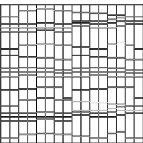 Music score in sheet music order, rectangular framework