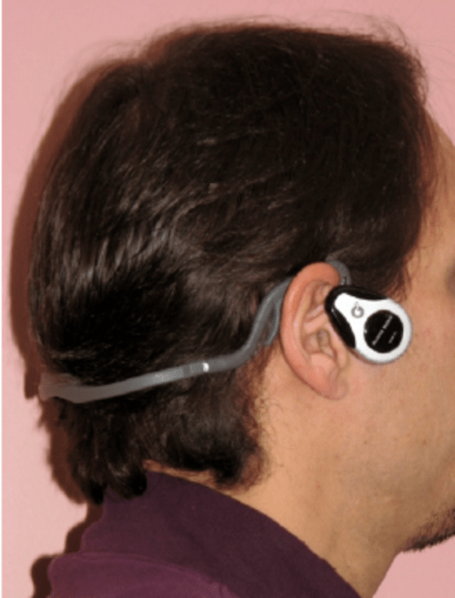 small resolution of the audiobone bone conducting headset from goldendance co ltd