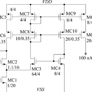 Schematic diagram of the BJT differential input OTA and