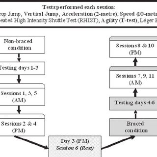 Agility test—T-test running pattern. Subjects were