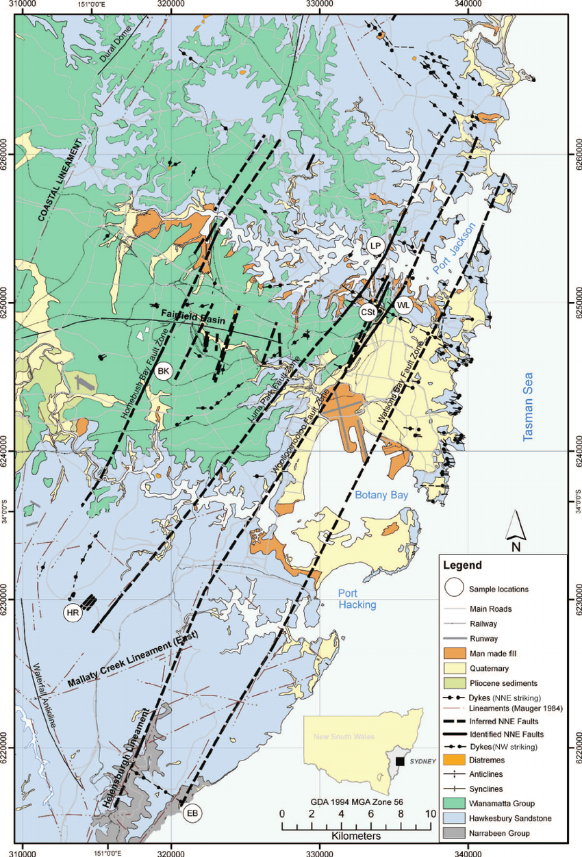medium resolution of simplified geology map of the study area showing location of main download scientific diagram