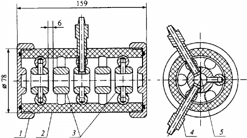 Schematic diagram of the LTD cavity switch. The operating