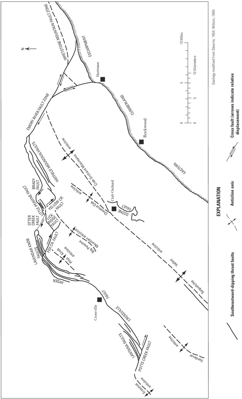 hight resolution of major structural features of the geology of the cumberland plateau overthrust belt