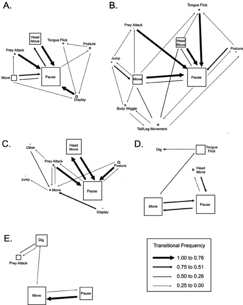 small resolution of kinematic diagrams of the behavioral transition matrices labels are the same as figure 1