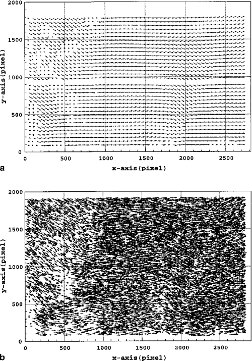 small resolution of velocity measurements of a double pulse single frame image obtained in the water